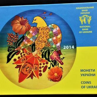 MN Украина набор НБУ 2014 г., разновидность 5 копеек.