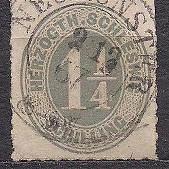 Немецкие земли, Scleswig-Holstein, 1865 г., первые марки, марка № 9
