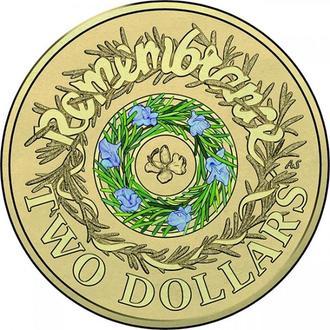 Австралия-2 доллара (2017) 'День памяти' UNC