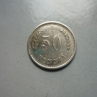 Финляндия 50 пенни 1934 S нечастый год VF=2.5$