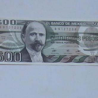 500 Песо 1984 р Мексика 500 Песо 1984 г Мексика
