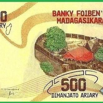Мадагаскар 500 ариари 2017 Новинка UNC