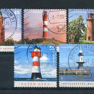 Марки гашеные Германия маяки архитектура