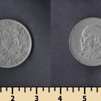 КЕНИЯ 50 ЦЕНТОВ 1967