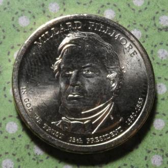 США 2010 Р год монета 1 доллар Америка 13-й Президент Миллард Филлмор !