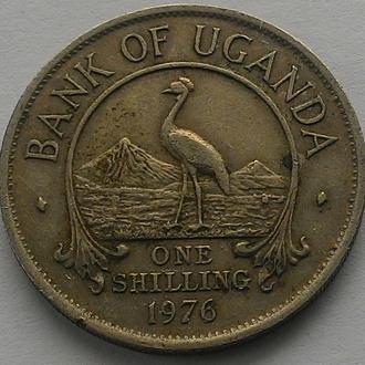 Уганда 1 шиллинг 1976 г