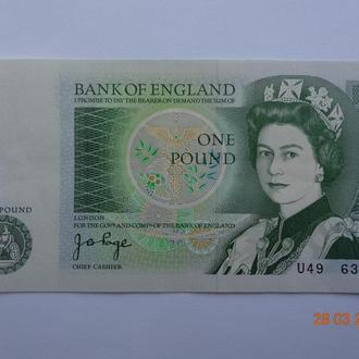 Великобритания 1 фунт ND (1978-80) Newton pick377a