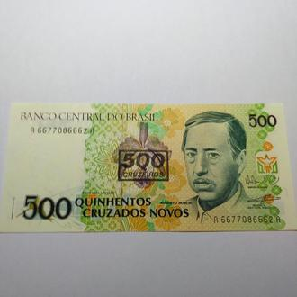 500 крузадос, Бразилія, пресс, unc, оригинал