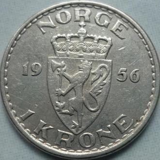 Норвегия 1 крона 1956