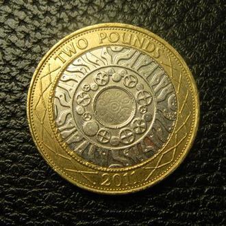 2 фунта 2011 Британія  рідкісна