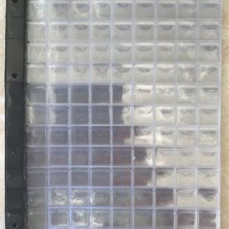 ЛИСТ КУЛИСА ДЛЯ МОНЕТ СИЛИКОНОВЫЙ формат Гранд А-4 10 штук 9х13 = 117 ячеек  Размер ячейки 21х21 мм