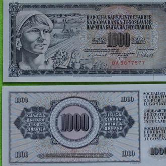 Югославия 1000 динар 1980 UNС