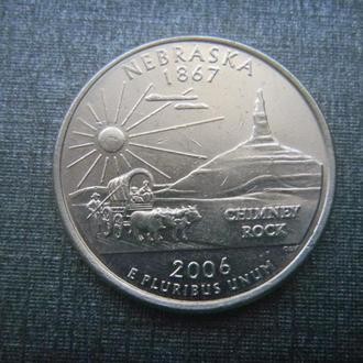 США 25 центов Небраска D 2006 (RL206)