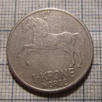 Норвегия, 1 крона 1959 г. Лошадь