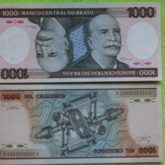 Бразилия 1000 крузейро UNС