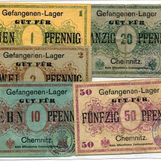 Комплект Німеччина Chemnitz Gefangenen-Lager 1914-18 рр.