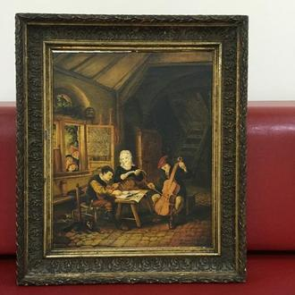 """Картина """"Трактир"""", Европа, малые голландцы."""