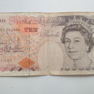 Банкнота номінал 10 фунтів 1993 Англія
