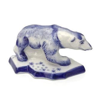 Статуэтка Белый медведь гжель