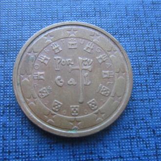монета 2 евроцента Португалия 2002