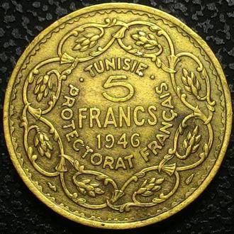 Тунис 5 франков 1946 год СОСТОЯНИЕ!!!!!!