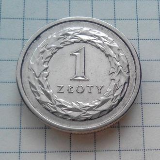 1 злотый 2012 г. Польша