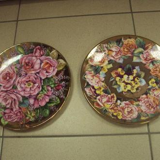 Тарелки цветы royal worcester лот 2 шт №488п