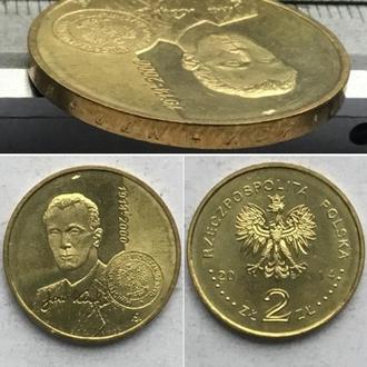 Польша 2 злотых, 2014г. 100 лет со дня рождения Яна Карского / Юбилейные монеты