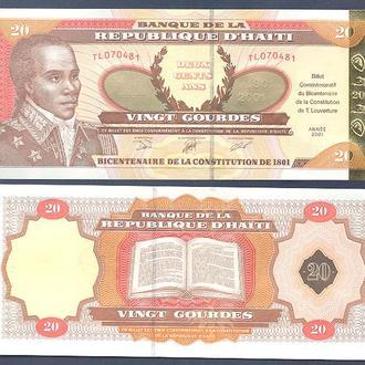 Боны Америка Гаити 20 гурд 2001 г.