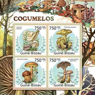 Гвинея Бисау 2011 ** Флора и Фауна Грибы Насекомые Жуки МЛ MNH