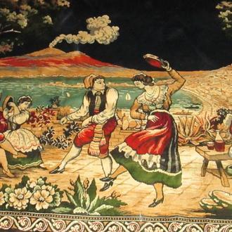 Красивейший итальянский гобелен-ковёр.Размеры : 1, 9 м х 1,25 м.