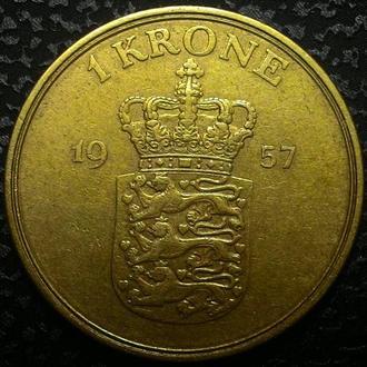 Дания 1 крона 1957 год