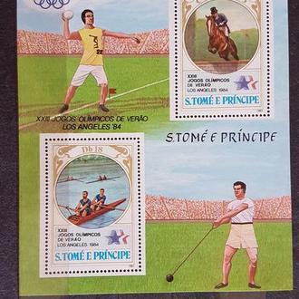 Сан Томе и Принсипи 1983 Олимпиада-84 летняя Лос Анжелес Михель = 9,5 евро**