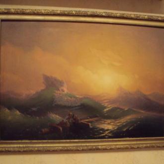 """Картина Айвазовского  """"Девятый вал"""" 105*76 см. (репродукци - холст, масло)"""