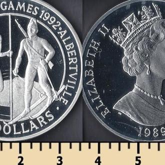 Кука острова 50 долларов 1989