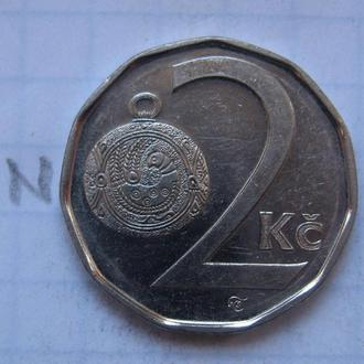 ЧЕХИЯ, 2 кроны 2001 года.
