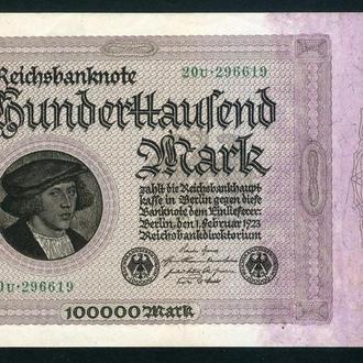 Германия , 100000 марок , 1923 год , UNC