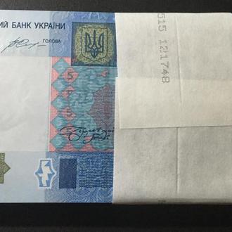 Украина 5 гривен 2015 г.  в UNC из пачки с номерами подряд