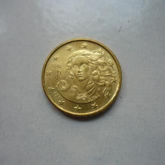 Италия 10 евроцентов 2012 состояние