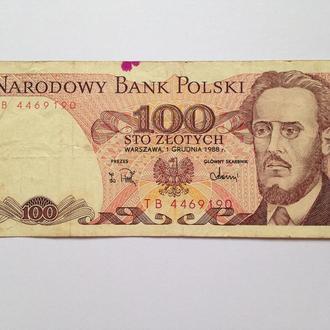 100 Злотых 1988 г Польша