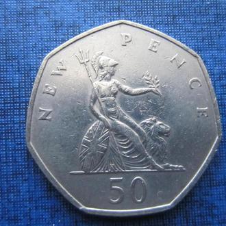 монета 50 пенсов Великобритания 1969