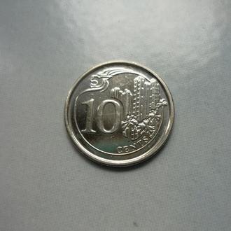 Сингапур 10 центов 2013