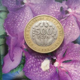 Западные Аф Штаты 500франков 2005г