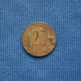 Аргентина 20 сентаво 1944 г