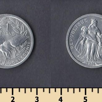 Новая Каледония 1 франк 1971