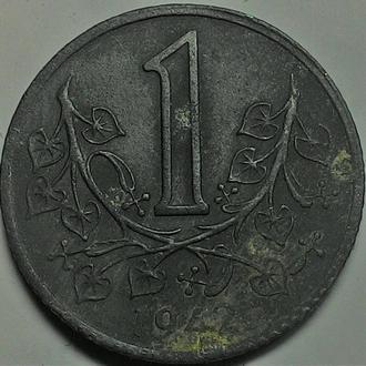 Богемии и Моравии 1 крона 1942 год СОСТОЯНИЕ!!