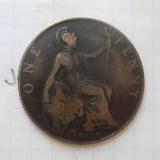 ВЕЛИКОБРИТАНИЯ, 1 пенни 1906 г. (ЭДУАРД 7-й).