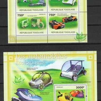 Того 2011 ** Транспорт Автомобили Экологичные БЛ+МЛ MNH