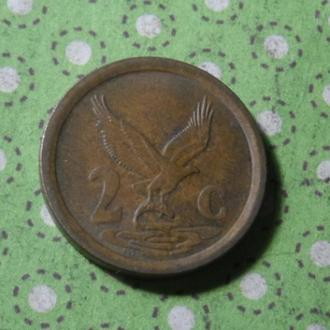 ЮАР 1994 год монета 2 цента Африка ПАР !