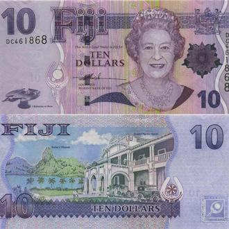 Фиджи 10 долларов 2007 UNC